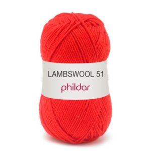 Phildar lambswool rouge 0009